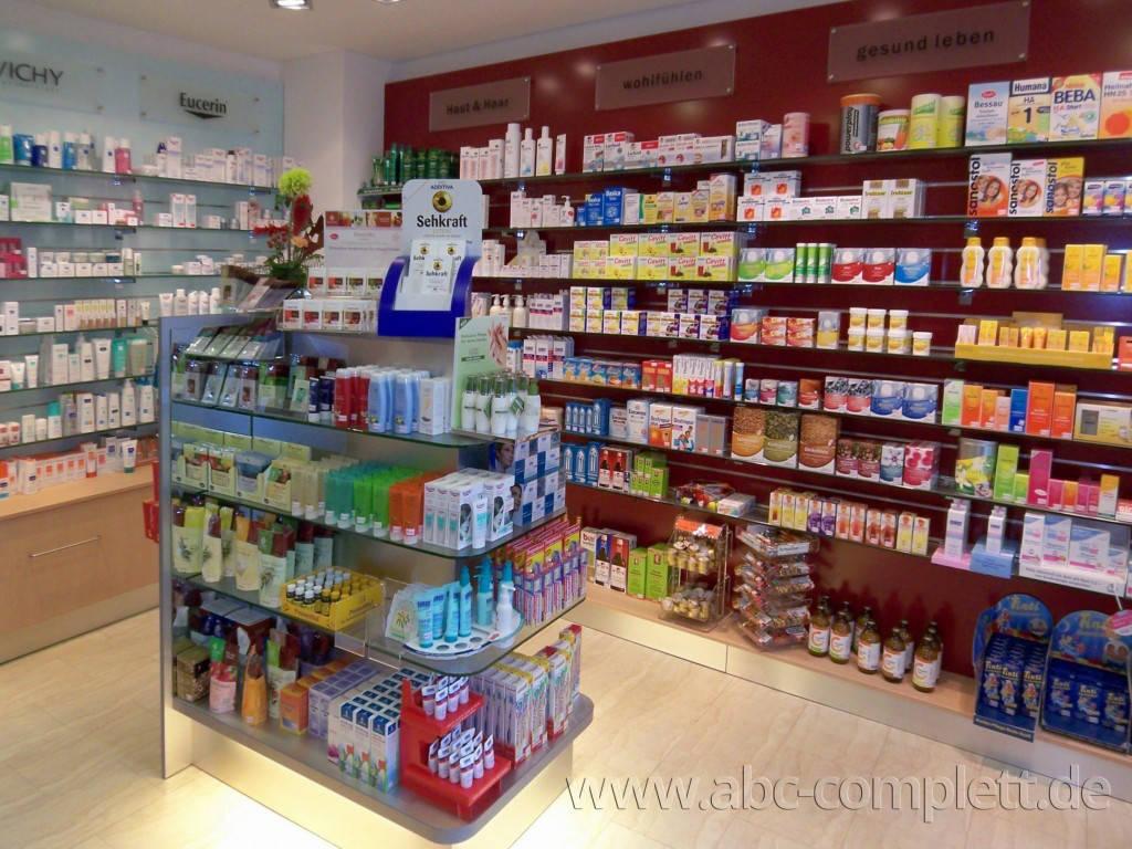 Ansicht des Geschäfts: Engel Apotheke, Komplettumbau wg. Automat, Berlin / Pankow