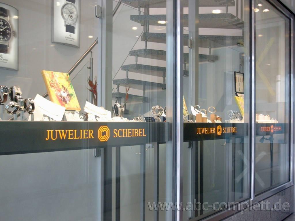 Ansicht des Geschäfts: Juwelier Scheibel, Schaufensterauslagen, Berlin / Charlottenburg, Foto 6