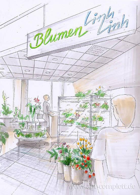 Ansicht des Geschäfts: Linh Linh Blumen, Eastgate, Berlin / Marzahn, Foto 3