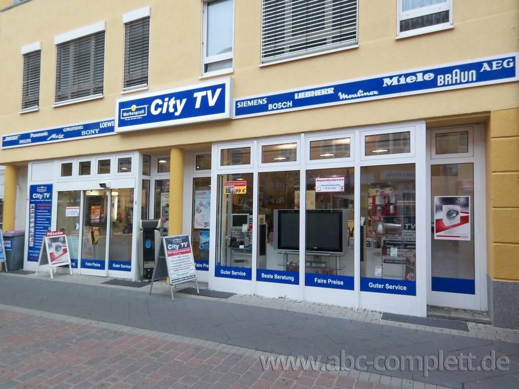 Ansicht des Geschäfts: City TV, Elektro-Fachmarkt, Berlin / Hennigsdorf, Foto 2