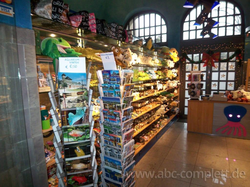 Ansicht des Geschäfts: Souvenirshop, Aquarium im Zoo Berlin, Berlin / Charlottenburg, Foto 4
