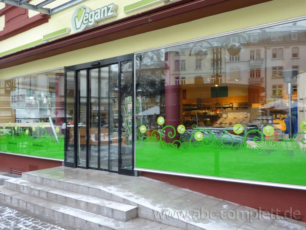 Ansicht des Geschäfts: Veganz wir lieben leben, veganer Supermarkt, Frankfurt am Main, Foto 1