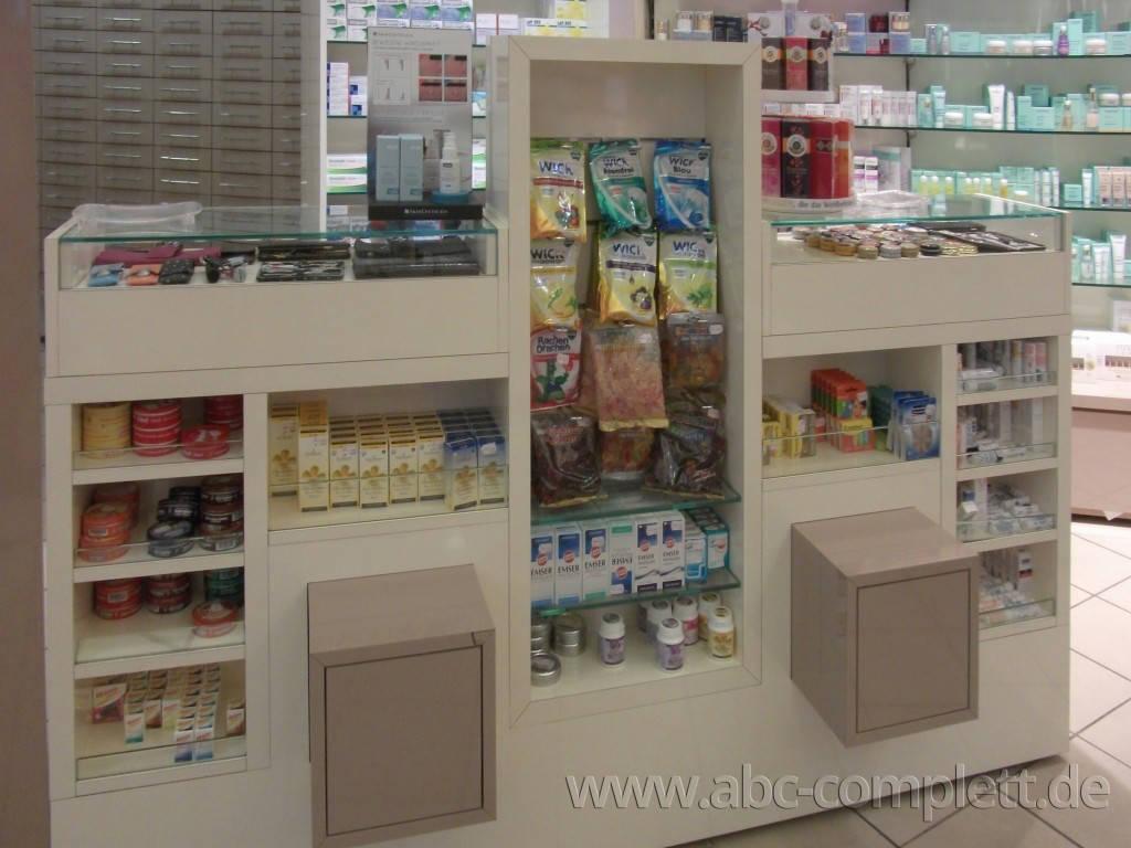 Ansicht des Geschäfts: Apotheke im KaDeWe, Offizinumbau 2013, Berlin / Charlottenburg, Foto 5