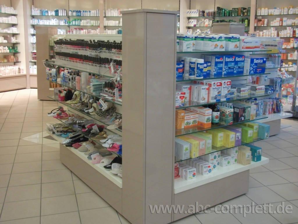 Ansicht des Geschäfts: Apotheke im KaDeWe, Offizinumbau 2013, Berlin / Charlottenburg, Foto 8
