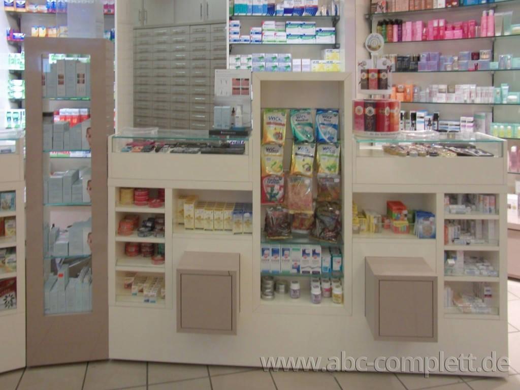 Ansicht des Geschäfts: Apotheke im KaDeWe, Offizinumbau 2013, Berlin / Charlottenburg, Foto 11