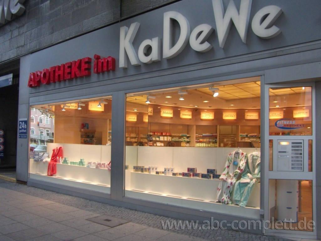 Ansicht des Geschäfts: Apotheke im KaDeWe, Offizinumbau 2013, Berlin / Charlottenburg, Foto 12