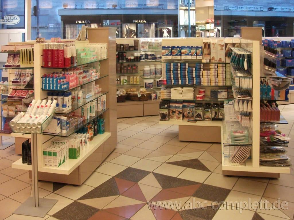 Ansicht des Geschäfts: Apotheke im KaDeWe, Offizinumbau 2013, Berlin / Charlottenburg, Foto 4