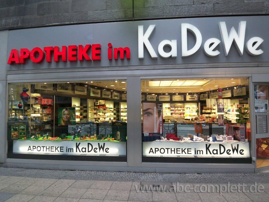 Ansicht des Geschäfts: Apotheke im KaDeWe, Offizinumbau 2007, Berlin / Charlottenburg, Foto 4