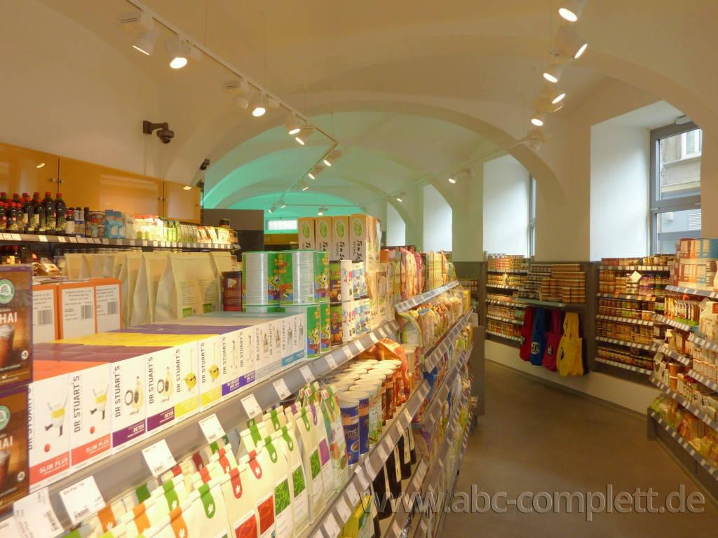 Ansicht des Geschäfts: Veganz wir lieben leben, veganer Supermarkt, Wien, nahe Naschmarkt, Foto 11
