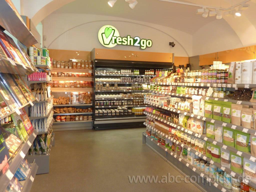 Ansicht des Geschäfts: Veganz wir lieben leben, veganer Supermarkt, Wien, nahe Naschmarkt, Foto 13