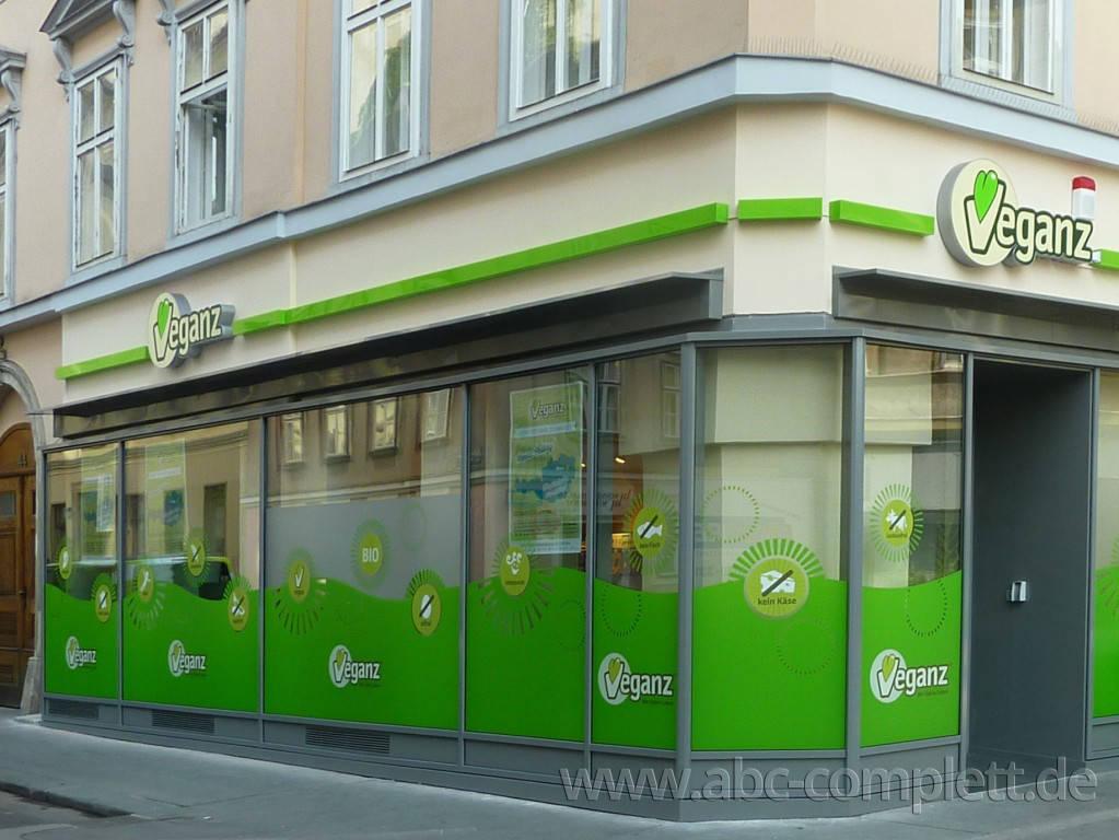 Ansicht des Geschäfts: Veganz wir lieben leben, veganer Supermarkt, Wien, nahe Naschmarkt, Foto 1