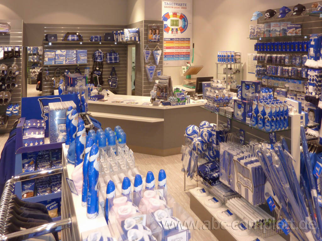 Ansicht des Geschäfts: Hertha BSC Fanshop, Mall Of Berlin / Leipziger Platz 12, Berlin / Mitte, Foto 4