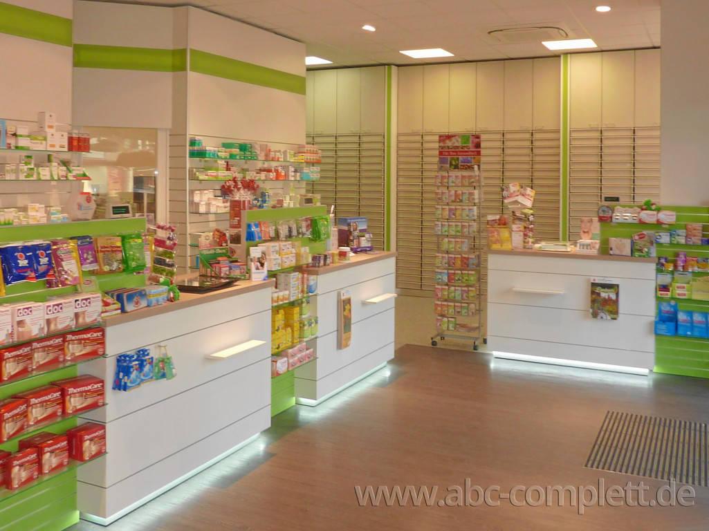 Ansicht des Geschäfts: Leonoren Apotheke, Offizinumbau, Berlin / Lankwitz, Foto 1