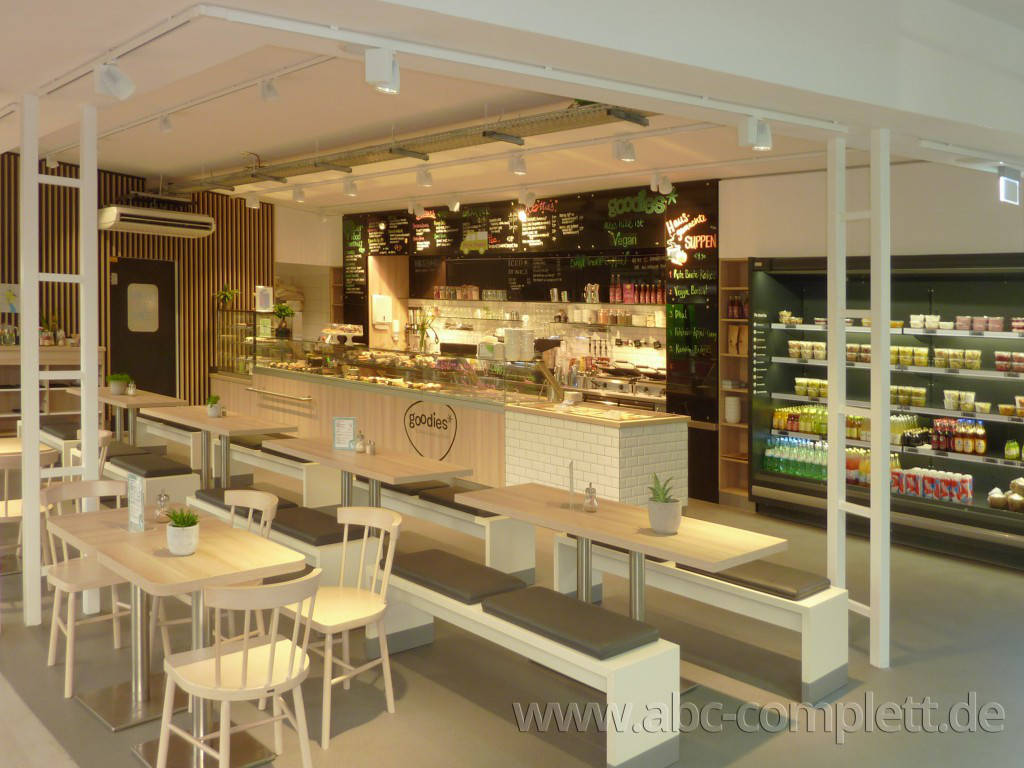 Ansicht des Geschäfts: Goodies* im Veganz, * Coffee & healthy food, Berlin / Marheineke Markthalle, Foto 2