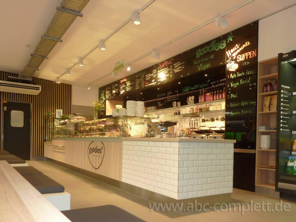 Ansicht des Geschäfts: Goodies* im Veganz, * Coffee & healthy food, Berlin / Marheineke Markthalle, Foto 7