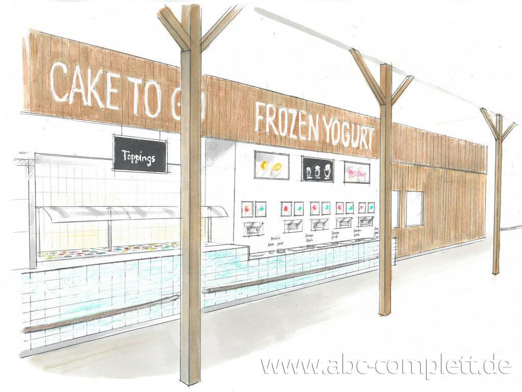 Ansicht des Geschäfts: Borneo Eiscafe im Tropical Islands, Frozen Yogurt in Selbstbedienung, Krausnick (Brandenburg), Foto 2