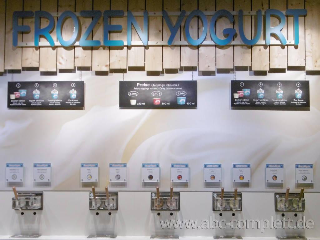 Ansicht des Geschäfts: Borneo Eiscafe im Tropical Islands, Frozen Yogurt in Selbstbedienung, Krausnick (Brandenburg), Foto 3