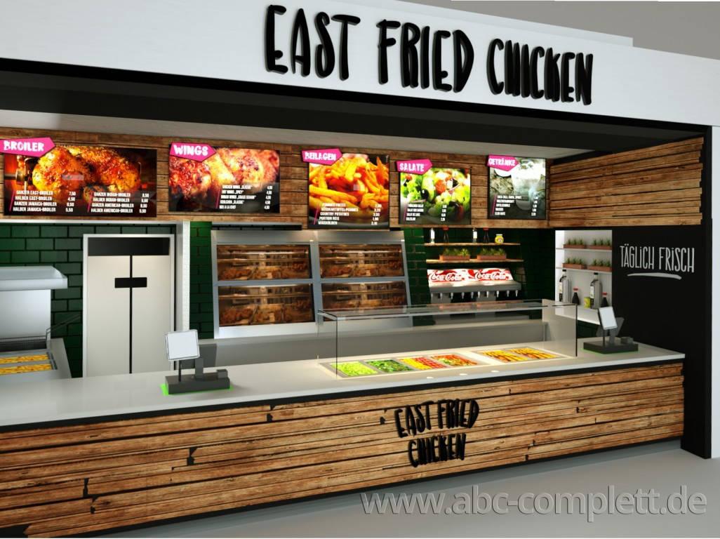 Ansicht des Geschäfts: East Fried Chicken, Eastgate - Design by conceptsmedia.de, Berlin / Hohenschönhausen, Foto 3