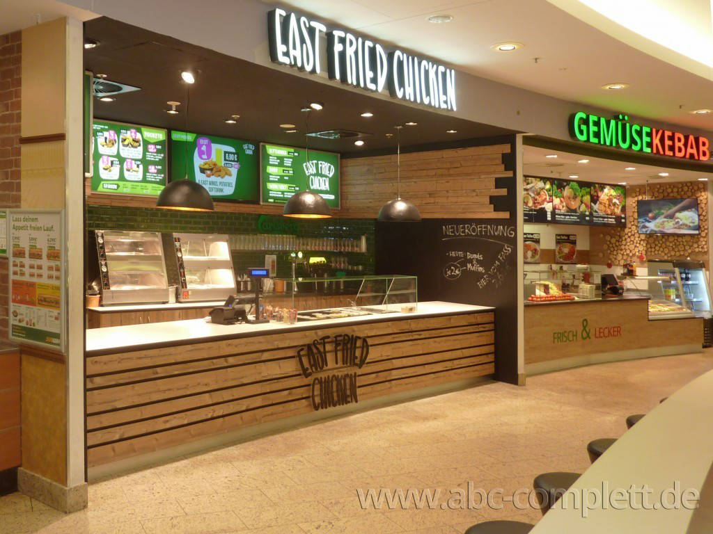 Ansicht des Geschäfts: East Fried Chicken, Eastgate - Design by conceptsmedia.de, Berlin / Hohenschönhausen, Foto 4