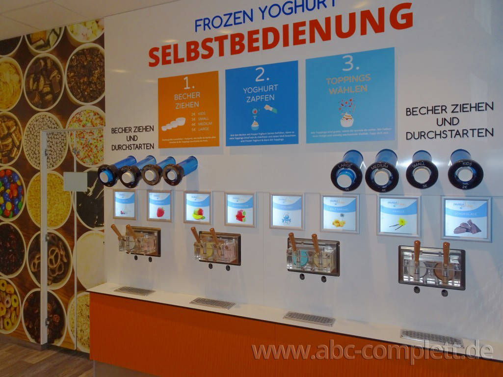 Ansicht des Geschäfts: Frozen Joe, Frozen Yogurt in Selbstbedienung, Berlin / Ring Center II, Foto 2