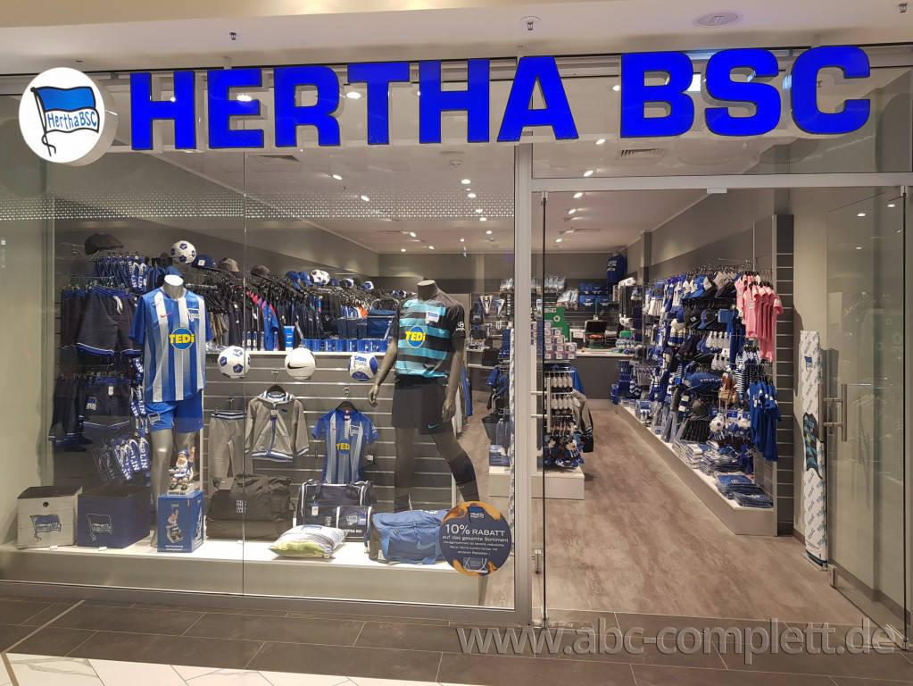 Ansicht des Geschäfts: Hertha BSC Fanshop, Gropiuspassagen 2017, Berlin / Neukölln, Foto 1