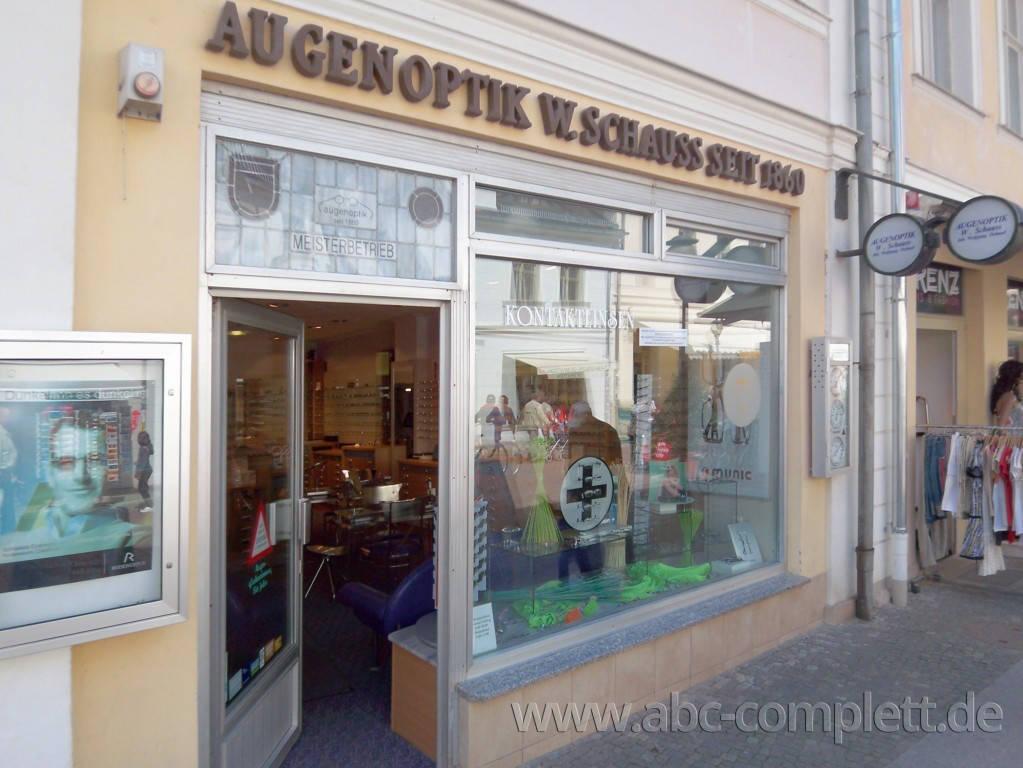 Ansicht des Geschäfts: Augenoptik Schauss, Inhaber W. Dehmel, Potsdam, Foto 1