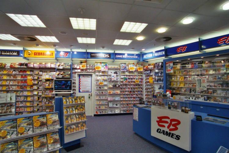 Ansicht des Geschäfts: GameStop / EB Games, Design by Retail Partner, deutschlandweit 40 Filialen lt. Referenzliste