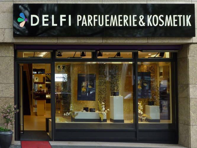 Ansicht des Geschäfts: Delfi Parfümerie, 2010 Design by Tulpa Group, Berlin / Charlottenburg