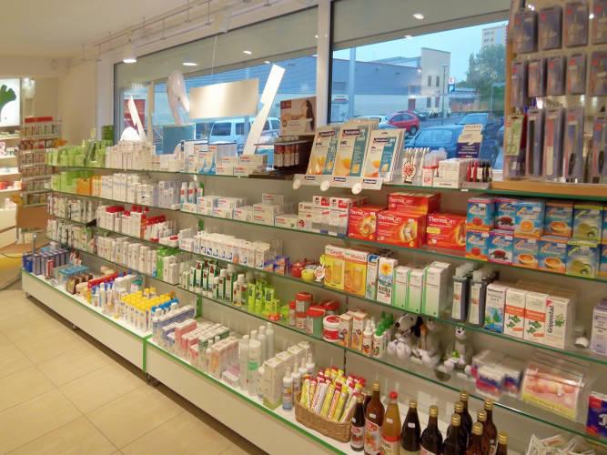 Ansicht des Geschäfts: Ginkgo Apotheke, Apotheke mit Drive -In, Berlin / Buch