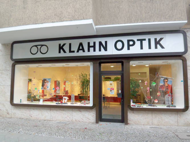 Ansicht des Geschäfts: Optik Klahn, Berlin / Charlottenburg