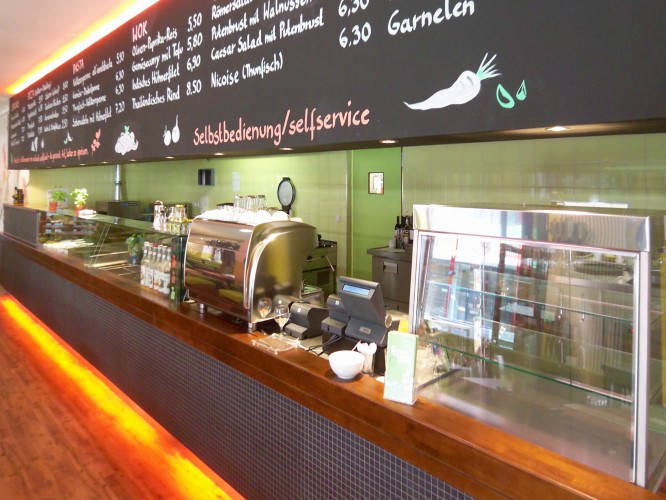 Ansicht des Geschäfts: Weilands Wellfood, Innenhof Gesundheitszentrum, Berlin / Kreuzberg