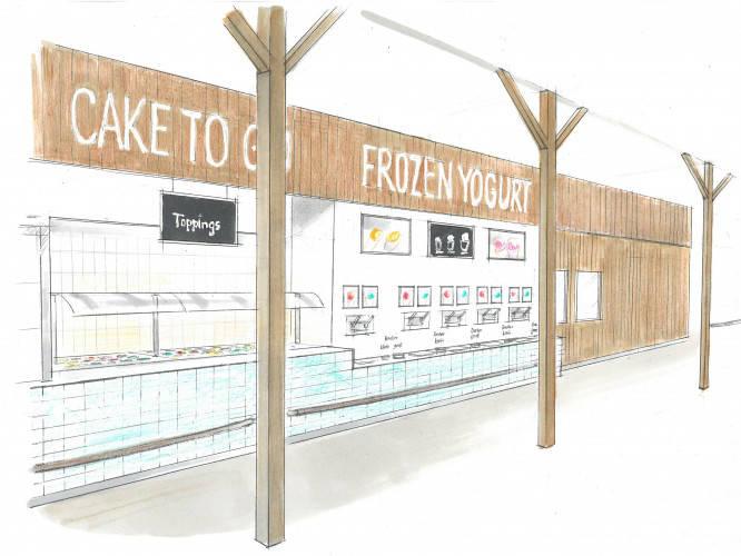Ansicht des Geschäfts: Borneo Eiscafe im Tropical Islands, Frozen Yogurt in Selbstbedienung, Krausnick (Brandenburg)