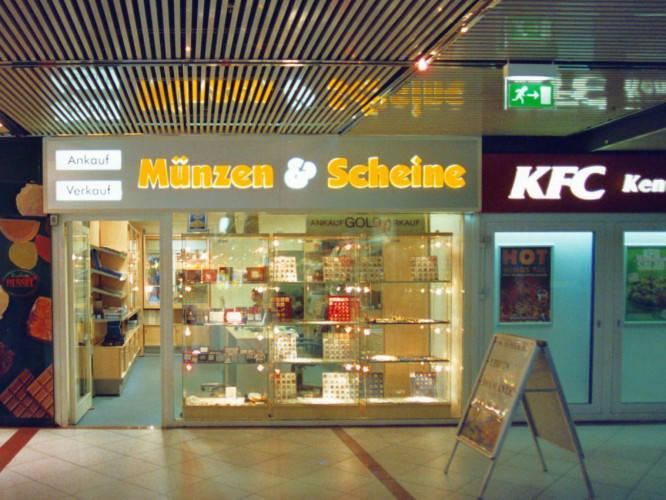 Ansicht des Geschäfts: Münzen und Scheine, Europacenter, Berlin / Charlottenburg