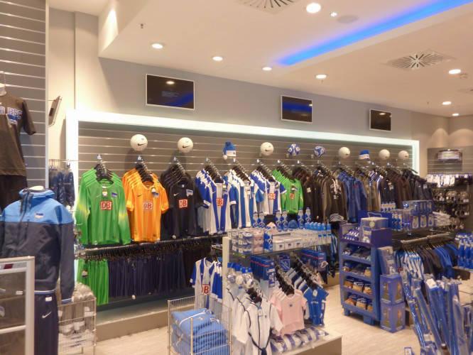 Ansicht des Geschäfts: Hertha BSC Fanshop, Mall Of Berlin / Leipziger Platz 12, Berlin / Mitte