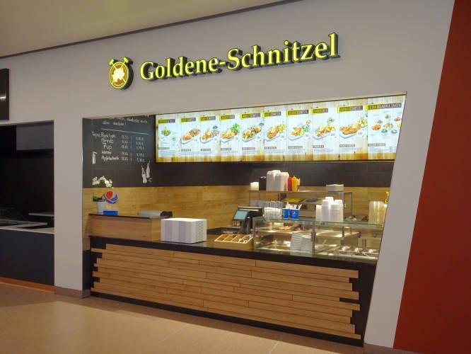 Ansicht des Geschäfts: Goldene Schnitzel, East Side Mall, Berlin / Friedrichshain