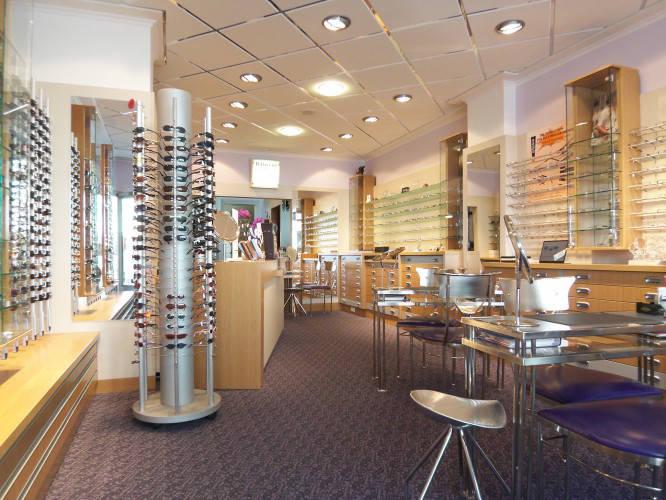 Ansicht des Geschäfts: Augenoptik Schauss, Inhaber W. Dehmel, Potsdam